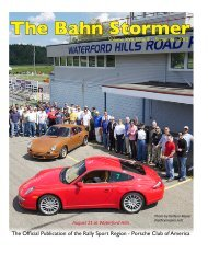 September 2012 Bahn Stormer - Rally Sport Region - Porsche Club ...