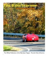 November 2011 Bahn Stormer - Rally Sport Region - Porsche Club ...