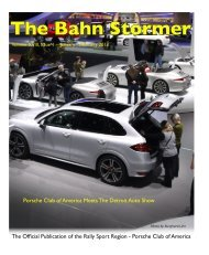 January-February 2013 Bahn Stormer - Rally Sport Region