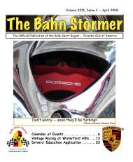 April 2008 Bahn Stormer - Rally Sport Region - Porsche Club of ...