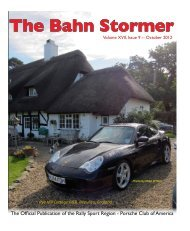 October 2012 Bahn Stormer - Rally Sport Region - Porsche Club of ...