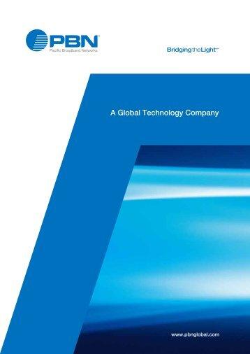 Corporate brochures - Pacific Broadband Networks