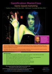 Sydney Gamification Master Class - elite media communications
