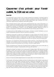 Lettre ouverte à la CGN, par Quentin Déal - Groupement ...