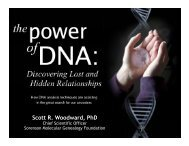 Scott R. Woodward, PhD Scott R. Woodward, PhD - Genetics ...