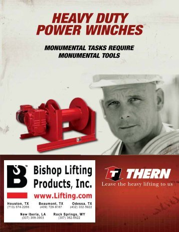HEAVY DUTY POWER WINCHES - Thern Winch