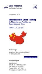Interkulturelles China-Training - Stahl Akademie