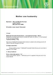 Mother cow husbandry - Multikraft
