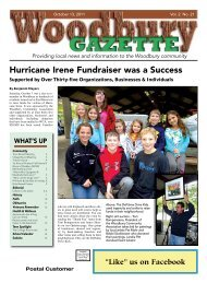View the October 13, 2011 issue as a PDF file. - Woodbury Gazette