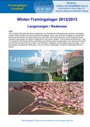 Winter-Trainingslager 2012/2013 Langenargen / Bodensee