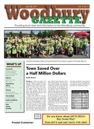 Town Saved Over a Half Million Dollars - Woodbury Gazette