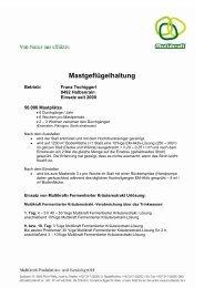 Mastgeflügelhaltung - Multikraft