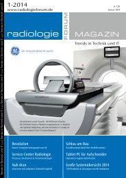 Radiologieforum Magazin 2014-1