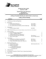 7:00 p.m. Board Meeting - Springfield School District Board Meeting ...
