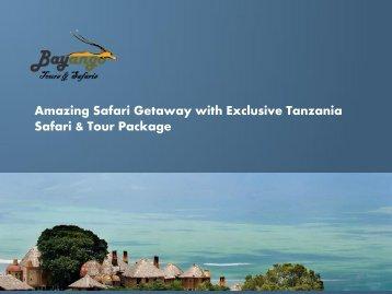 Amazing Safari Getaway with Exclusive Tanzania Safari & Tour Package