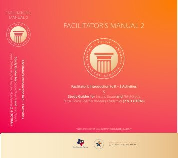 FACILITATOR'S MANUAL 2 - The Meadows Center for Preventing ...