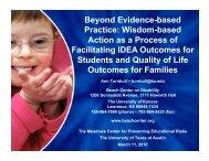 Wisdom-based Action as a Process of Facilitating IDEA Outcomes ...