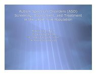 Autism Spectrum Disorders (ASD) - The Meadows Center for ...