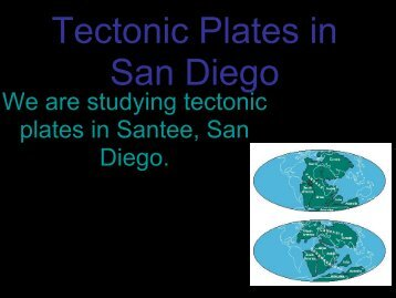 Tectonic Plates in San Diego County