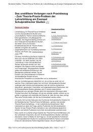 Theorie-Praxis-Problem der Lehrerbildung am ... - Sowi-Online