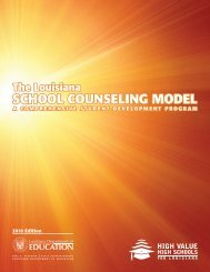 School Counseling Program Management Agreement - Louisiana ...