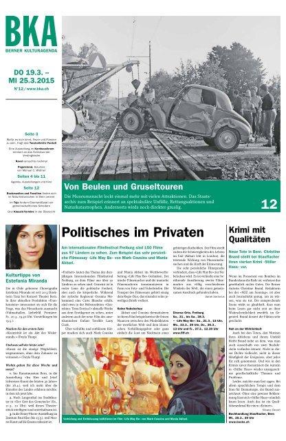 Berner Kulturagenda 2015 N° 12