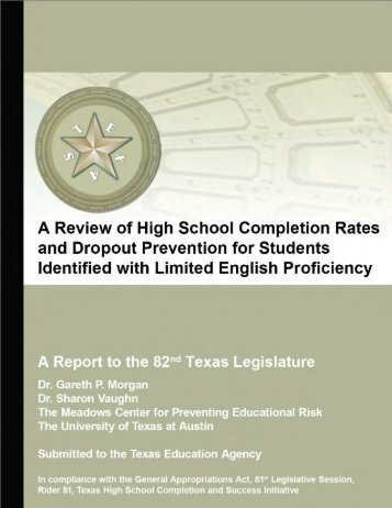 A Review of High School Completion Rates and Dropout Prevention ...
