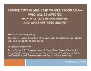 service cuts in medicaid waiver programs - Disability Rights Texas