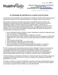 El Programa de Asistencia al Cliente (CAP) en Texas - Disability ...