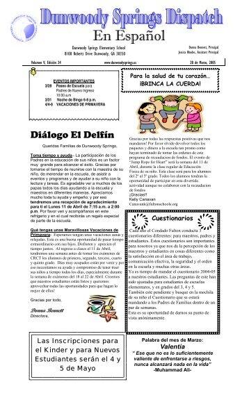 Spanish Newsletter3-28-05 - Fulton County Schools