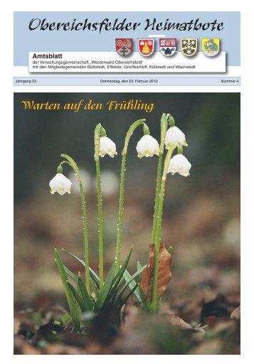 Obereichsfelder Heimatbote Amtsblatt - Verwaltungsgemeinschaft ...