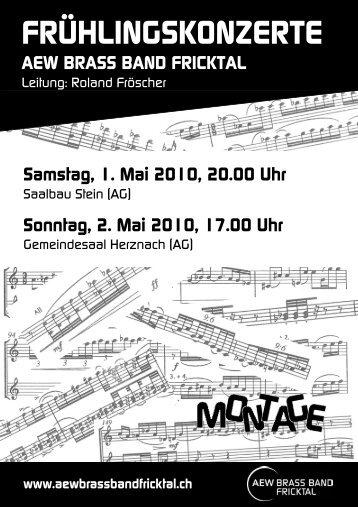 FRÜHLINGSKONZERTE - Brass Band Fricktal