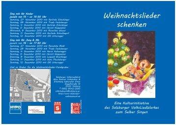 Weihnachtslieder schenken > . - Salzburger Volksliedwerk