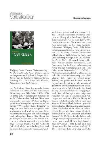 Rezension von Evelyn Fink-Mennel in der Zeitschrift Salzburger ...