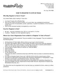 HOW TO REGISTER TO VOTE IN TEXAS Who May Register to Vote