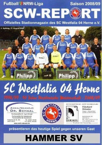 SCW-Patenschaft - SC Westfalia 04 Herne eV