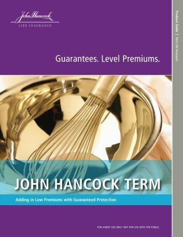 John Hancock Producer Guide Term Life.pdf - Shaw American