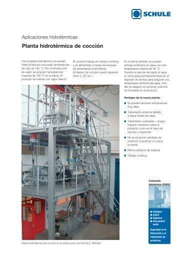 Planta hidrotérmica de cocción - FH SCHULE Mühlenbau