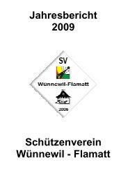 Jahresbericht 2009 Schützenverein Wünnewil - Flamatt