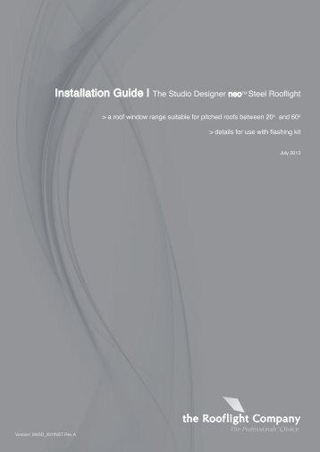 the Studio neo Steel Installation Manual - The Rooflight Company