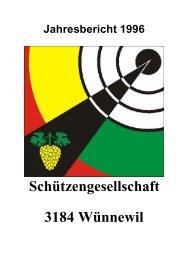 Schiessbericht 1996 - Schützengesellschaft Wünnewil