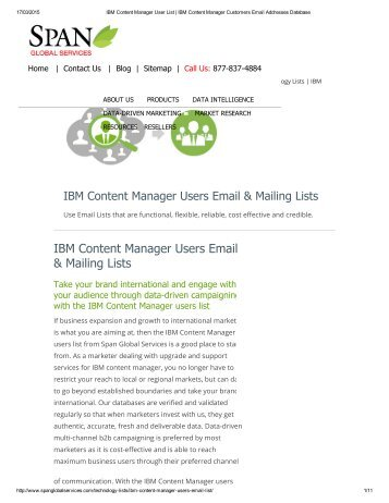 We guarantee 100% deliverability rate with our IBM Content Manager Customers Email Addresses