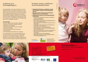 Kindertagespfleger/in – eine neue berufliche Perspektive