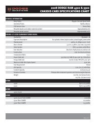 2008 Dodge Ram 4500 & 5500 Chassis Cabs specifications Chart