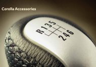 Corolla Accessories - Wess Motors