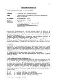 Versammlung vom 28. Mai 2008 - Hauenstein-Ifenthal