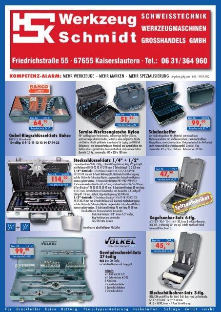 37,90 - Werkzeug Schmidt GmbH
