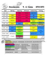 Stundenplan 4. -6. Klasse 2010/2011 - Oberthal