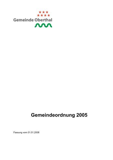 Gemeindeordnung 2005 - Oberthal