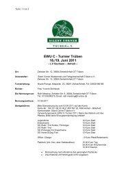 EWU C - Turnier Trüben 18./19. Juni 2011
